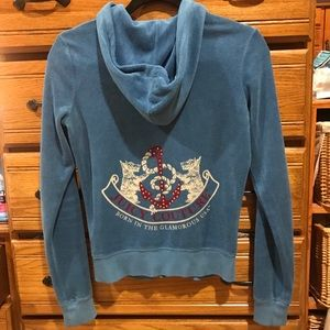 Juicy couture cotton zip up hoodie